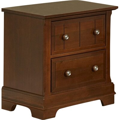 Marquardt 2 Drawer Nightstand Color: Cherry