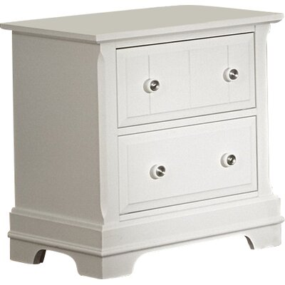 Marquardt 2 Drawer Nightstand Finish: Snow White