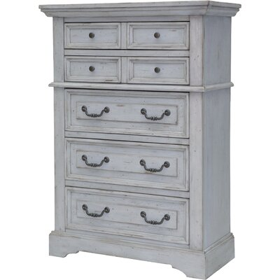 Kennison 5 Drawer Standard Chest Color: Antique Gray