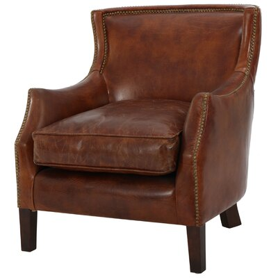 Adelbert Kraig Top Grain Leather Arm Chair