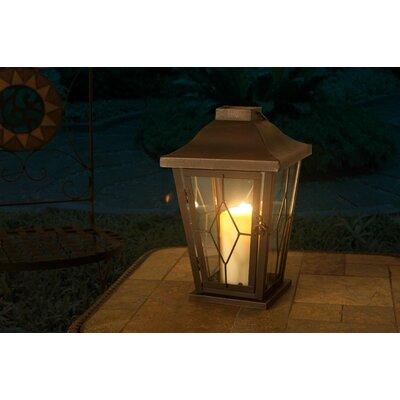 Metal Lantern Size: 12.75 H x 8 W x 8 D
