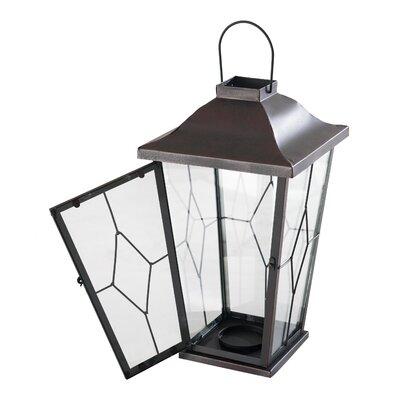 Metal Lantern Size: 17 H x 9.5 W x 9.5 D