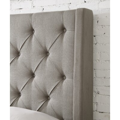 Fares Upholstered Wingback Headboard Size: Queen, Upholstery: Ash