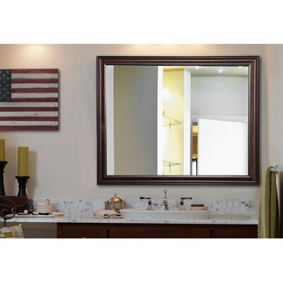 Kavanaugh Wall Mounted Walnut Mirror