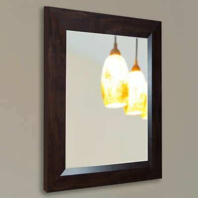 Handcrafted Deep Walnut Wall Mirror