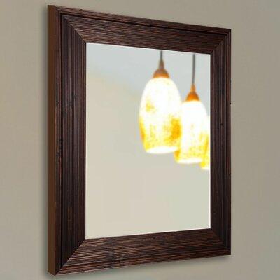 Handcrafted Dark Brown Wall Mirror