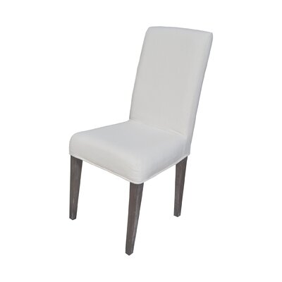 Preston Parson Chair Slipcover Color: Pure White