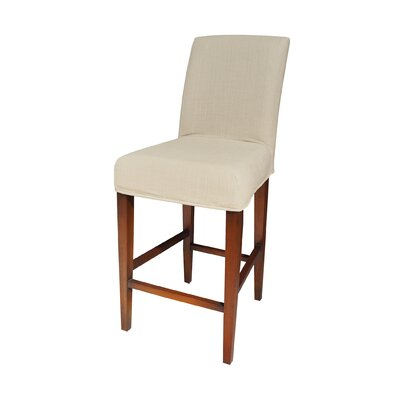 Preston Barstool Slipcover Color: Light Cream