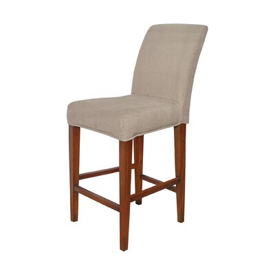 Preston Barstool Slipcover Color: Light Brown