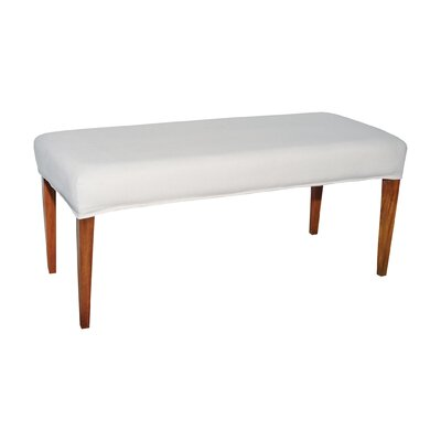 Preston Double Bench Cover Color: Pure White