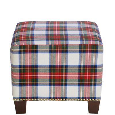 Afton Nail Button Ottoman Upholstery Color: Stewart Dress Multi