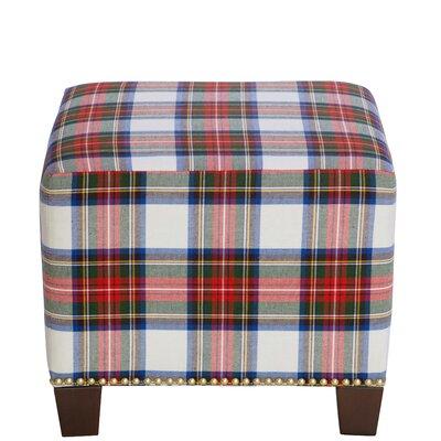 Afton Nail Button Ottoman Upholstery Color: Stewart Dress Multi