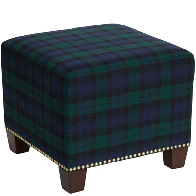 Afton Nail Button Ottoman Upholstery Color: Blackwatch