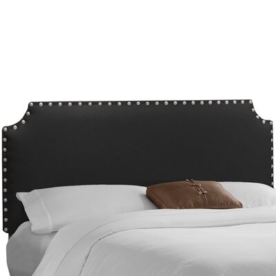 Adelia Upholstered Panel Headboard Size: Twin, Upholstery: Linen Black