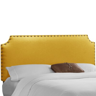 Adelia Upholstered Panel Headboard Size: Twin, Upholstery: Linen French Yellow