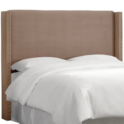 Alderley Upholstered Wingback Headboard Size: California King, Upholstery: Cocoa