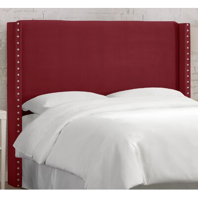 Alderley Upholstered Wingback Headboard Size: King, Upholstery: Berry