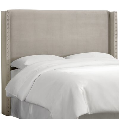 Alderley Upholstered Wingback Headboard Size: California King, Upholstery: Light Grey