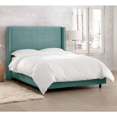 Peoria Upholstered Panel Bed Size: California King, Color: Caribbean
