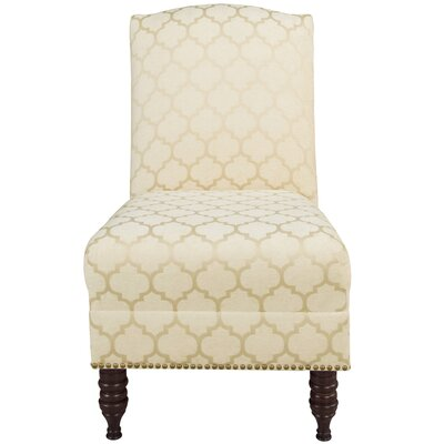 Thurston Slipper Chair Upholstery: Pastis Sand, Nailhead Detail: Brass Nailhead