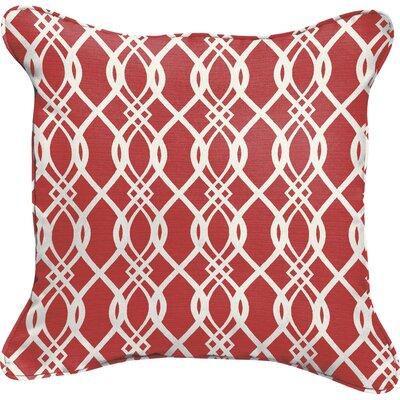 Byron Wavy Indoor/Outdoor Throw Pillow Size: 18 H x 18 W, Color: Red