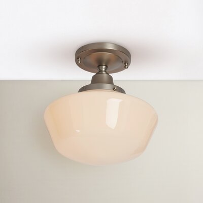 Fredericksen 1-Light Semi Flush Mount Finish: Brushed Nickel