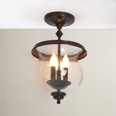 Shives 3-Light Semi Flush Mount