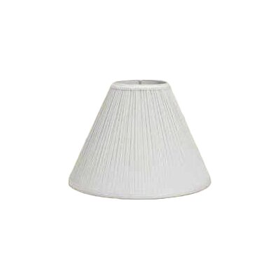 10 Pleated Linen Empire Lamp Shade Color: White