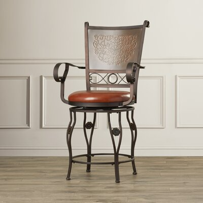 Woodland Swivel Bar Stool Seat Height: 24