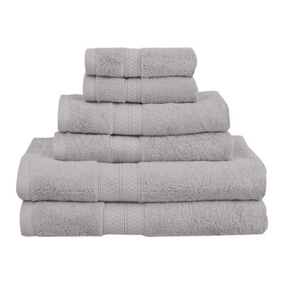 Superior 6 Piece Towel Set Color: Chrome