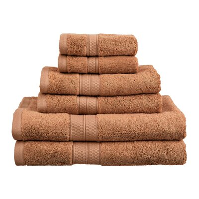 Superior 6 Piece Towel Set Color: Cocoa
