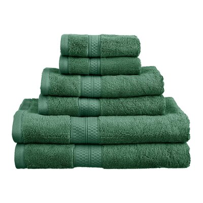 Superior 6 Piece Towel Set Color: Hunter Green