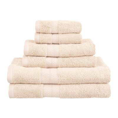 Superior 6 Piece Towel Set Color: Ivory