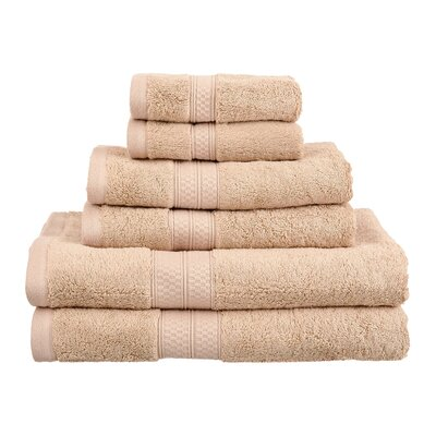 Superior Rayon From Bamboo 6 Piece Towel Set Color: Sand