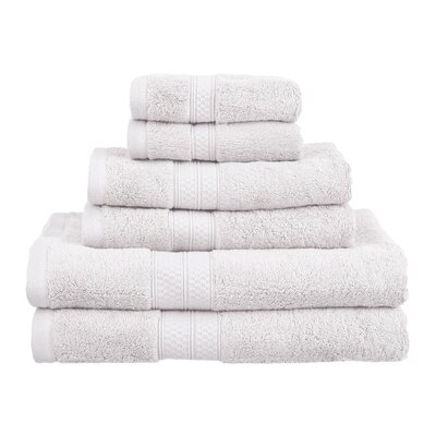 Superior 6 Piece Towel Set Color: White