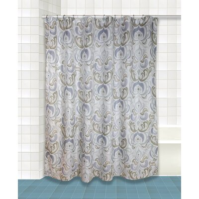 Lazzaro Shower Curtain Set Color: Silver