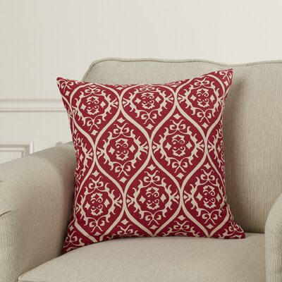 Hoyleton Cotton Throw Pillow Color: Hot Pink/Light Gray, Size: 18 H x 18 W x 4 D