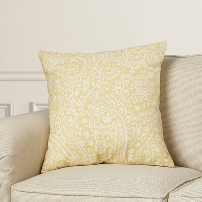 Hoyleton Cotton Throw Pillow Size: 22 H x 22 W x 4 D, Color: Butter/Ivory