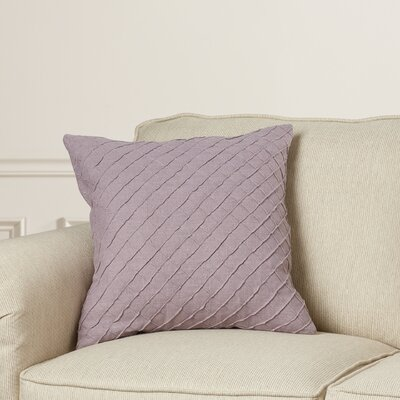 Zurich Linen Throw Pillow Size: 18 H x 18 W x 4 D, Color: Gray