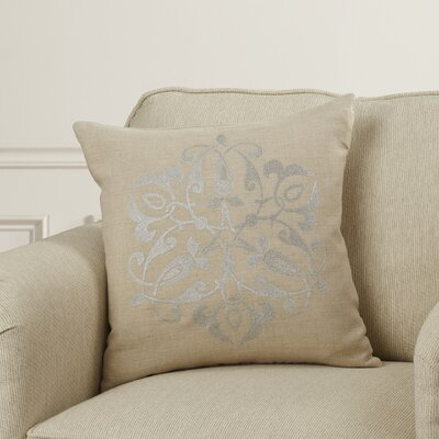Burdette Linen Throw Pillow Size: 18 H x 18 W x 4 D, Color: Gray/Light Gray