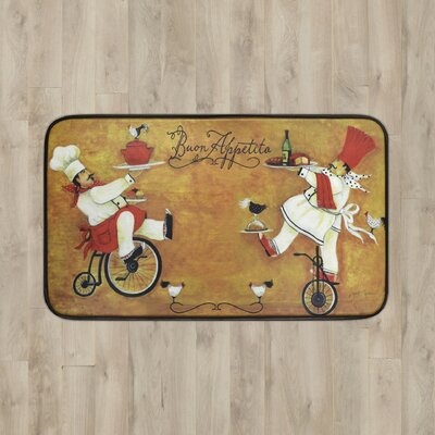 Larson Bicycle Duo Kitchen Mat Mat Size: 16 x 26