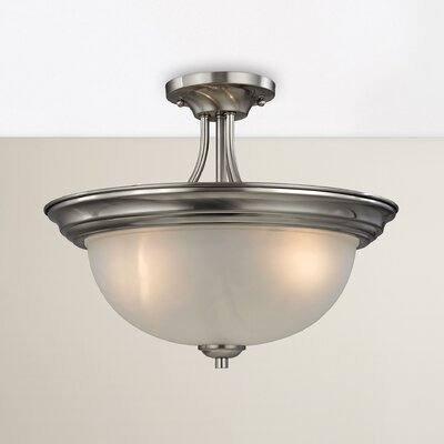 Gallimore 3-Light Semi Flush Mount Finish: Brushed Nickel