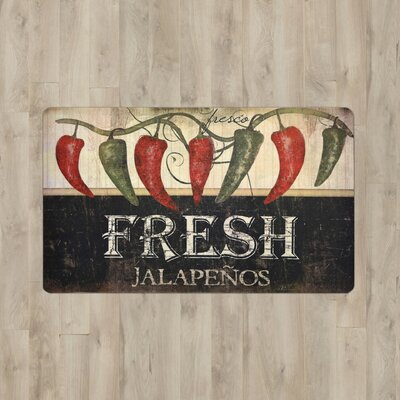 Larson Fresh Jalapenos Kitchen Mat