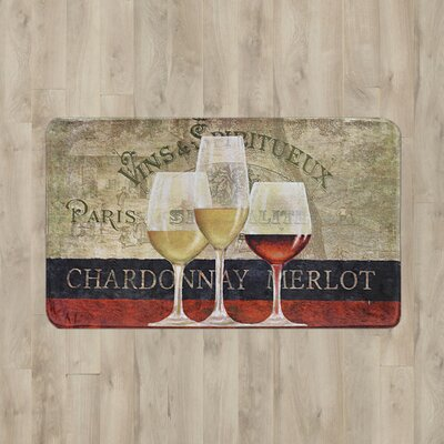 Larson 3 Glasses of Wine Kitchen Mat