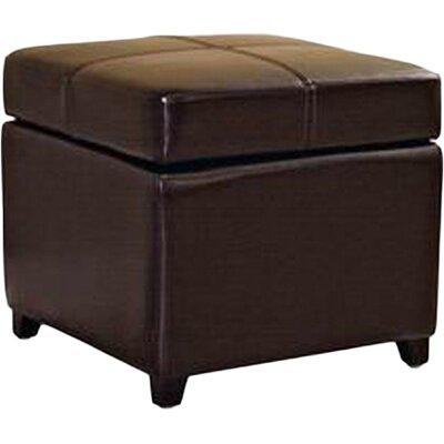 Leitch Storage Ottoman Upholstery: Dark Brown