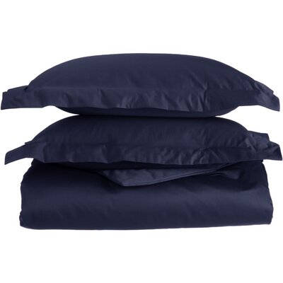 Amherst Pillow Case Size: California King, Color: Navy Blue