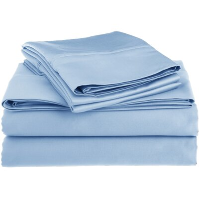 Superior 1200 Thread Count 100% Cotton Sheet Set Size: Queen, Color: Light Blue