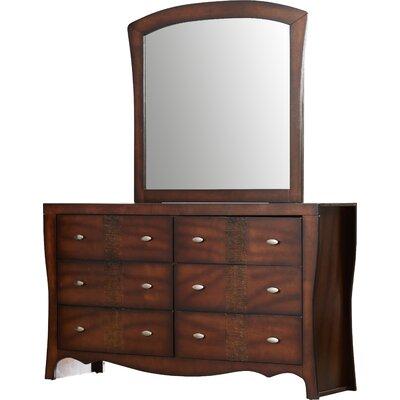 Duffey 6 Drawer Dresser with Mirror