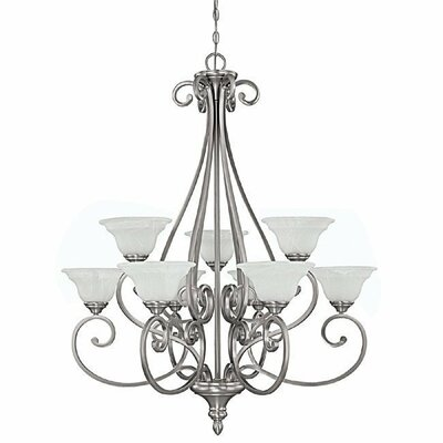 Prestbury 9-Light Shaded Chandelier