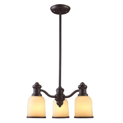 Claflin 3-Light Shaded Chandelier